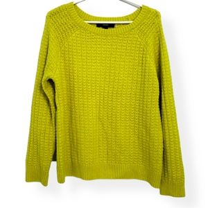 Forever 21 Lime Green Sweater size large knit top